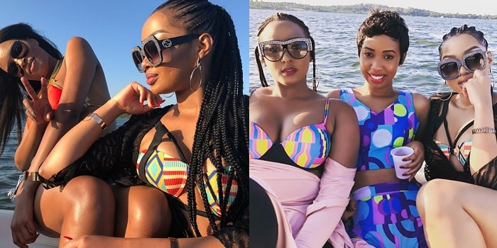 Anita Fabiola and her pals enjoying the waters
