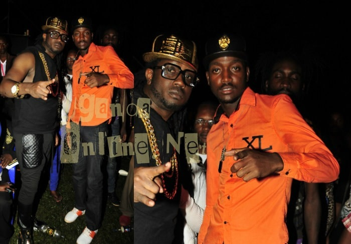 Bebe Cool and his eldest son Hendrik Ssali