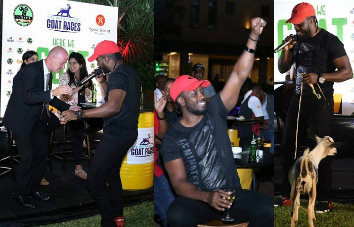 Bebe Cool during the launch of this year's goat races at Speke Apartments