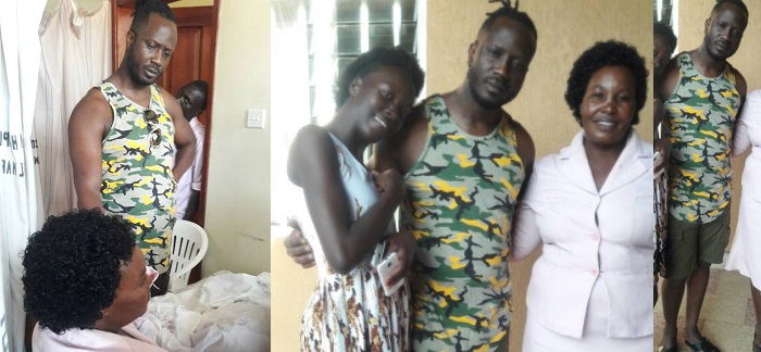 Bebe Cool and Danz Kumapeesa mom at Nsambya hospital