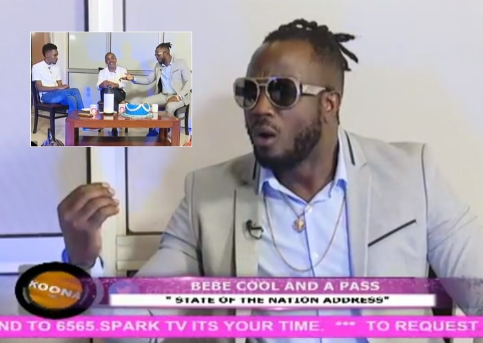 Bebe Cool while appearing on NTV with APass