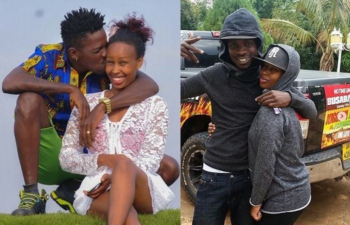 Bobi Wine and Barbie during the happy times