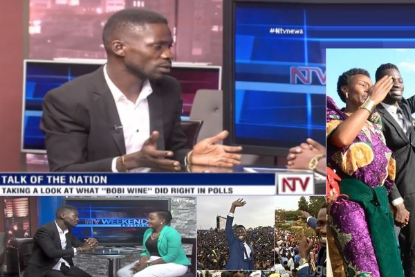 Bobi Wine being interviewed by Sheila Nduhikire