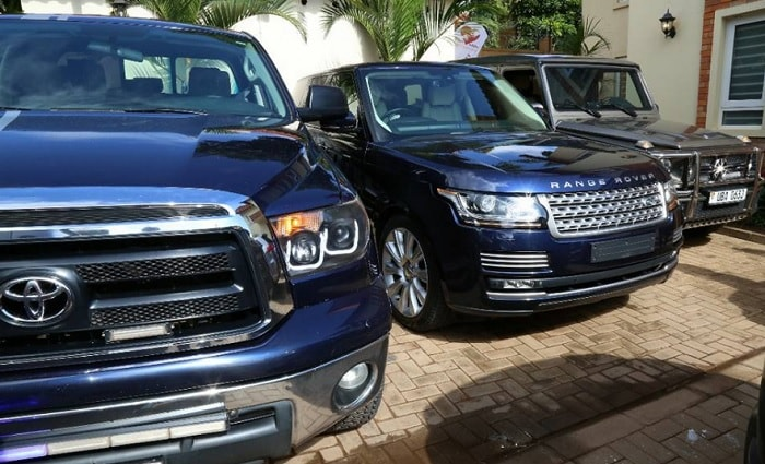 Bryan White's Tundra, Range Rover and Mercedes Benz Cross Country