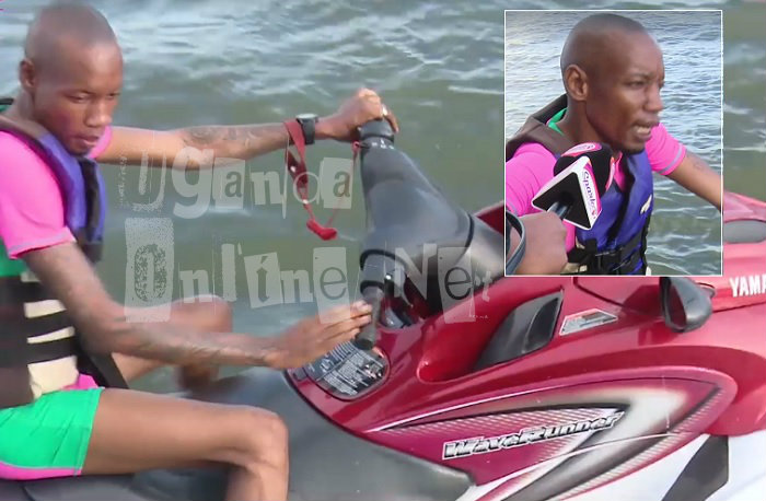 Bryan White on a Jet Ski in Munyonyo