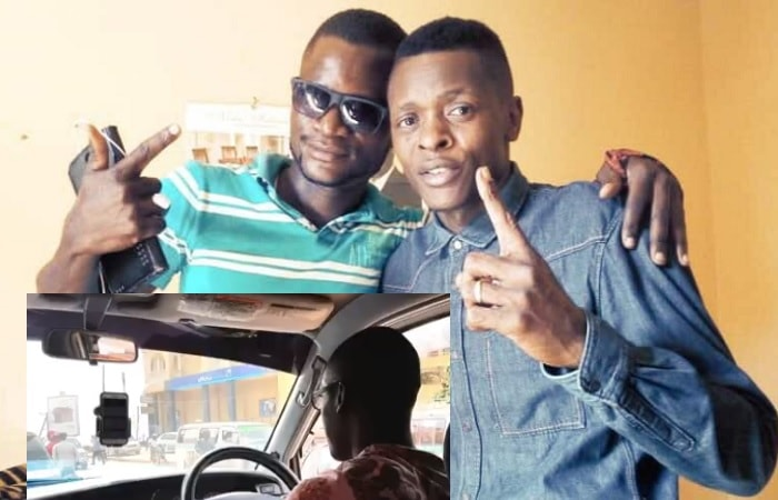 Chameleone and the assaulted UBer driver, Daniel Magoba