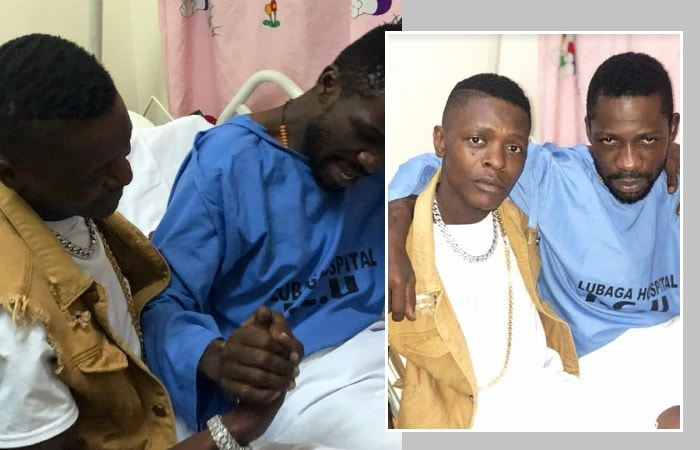 Chameleone while checking on Bobi Wine at Lubaga Hospital