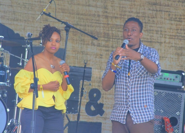 Cleo and Roger Mugisha doing their thing