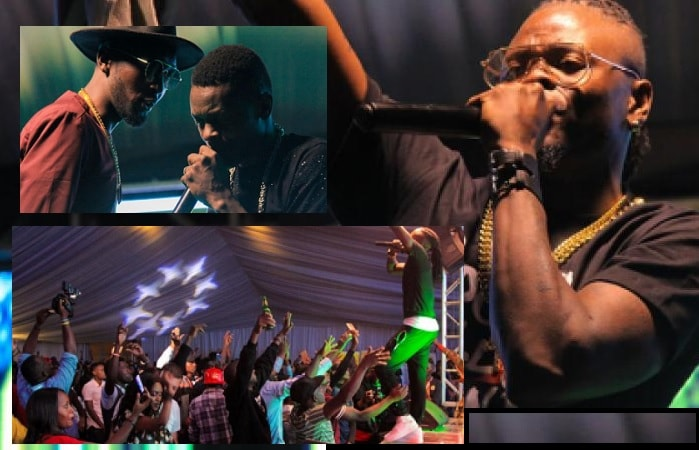DJ Pius, Chameleone, Weasel and Pallaso performing during the Iwachu album launch in Rwanda