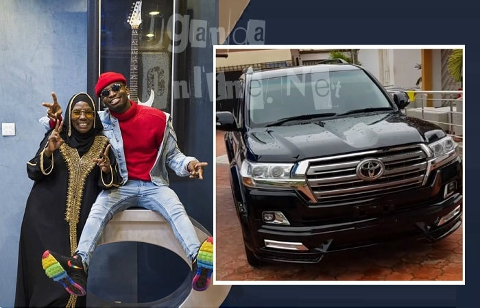 Diamond Platnumz and his mom, Sandra Kassim and inset is his new Land Cruiser
