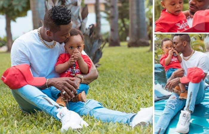 Hamisa shared these lovely pics of her son and baby daddy on Father's day
