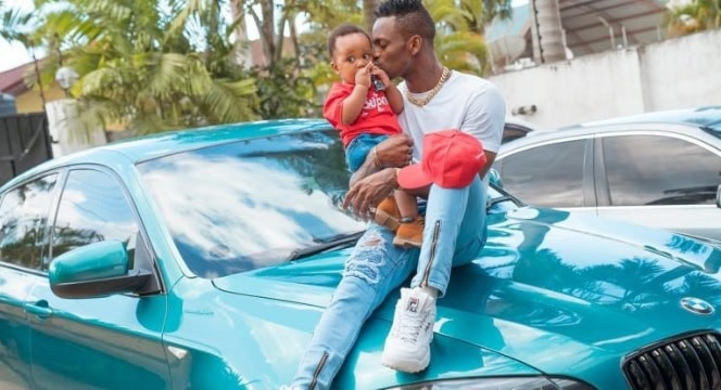 Platnumz showing some love to his son, Dylan