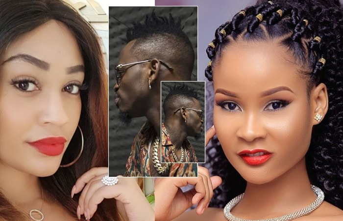 Zari Hassan and Hamisa Mobetto and inset is their baby daddy, Diamond Platnumz
