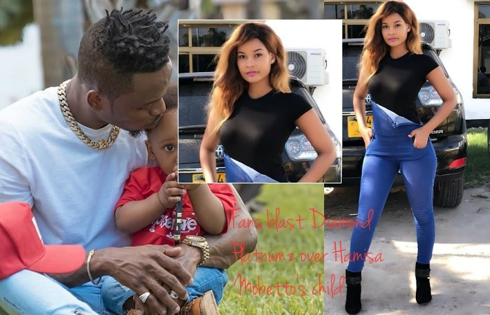 Fans blast Diamond Platnumz over Hamisa Mobetto's child