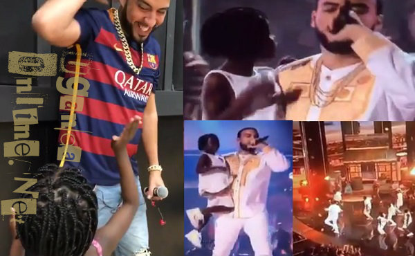 French Montana doing his Unforgettable with Ghetto kids during the BET Awards 2017