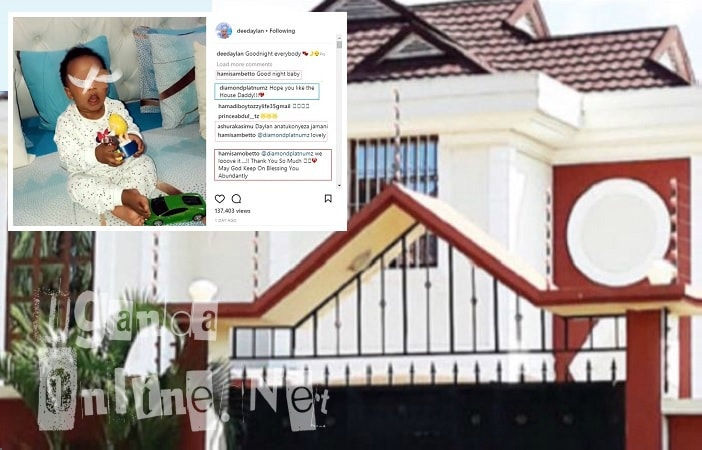 Hamisa Mobetto's house that Diamond Platnumz bought for her
