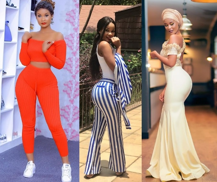 Hamisa Mobetto showcasing some of her outfits