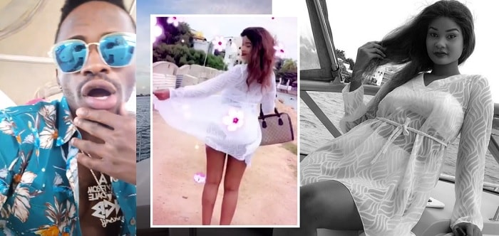 Hamisa Mobetto feeling sweet in this see through beach dress