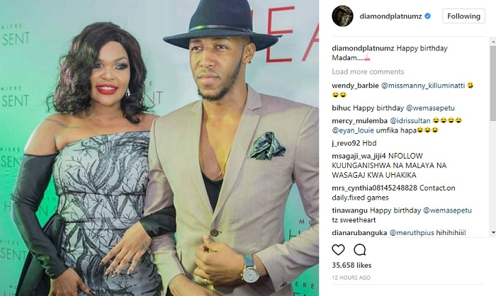 Diamond Platnumz birthday wishes to Wema Sepetu