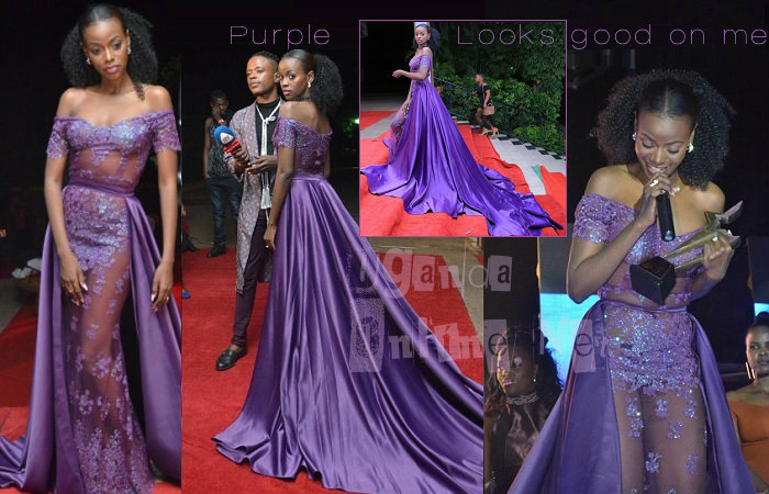 No doubt, Purple looks good on you Miss Lukoma