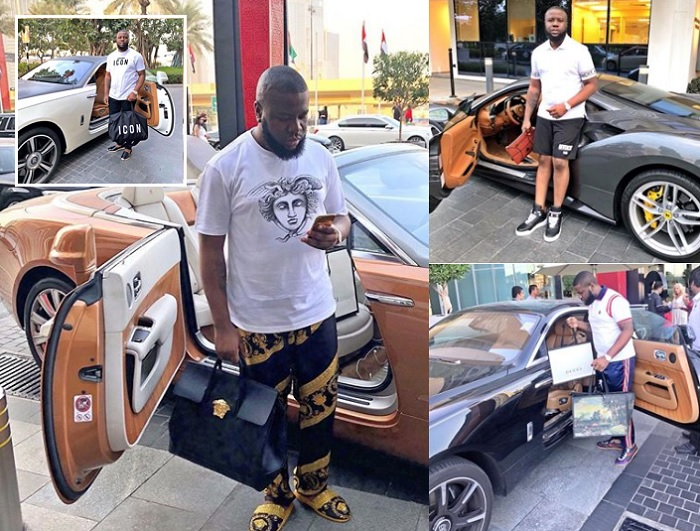 HushPuppi showing off some of his posh rides