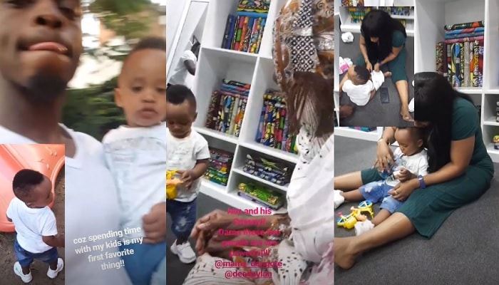 Diamond Platnumz with Dylan as granny and Esma play with him