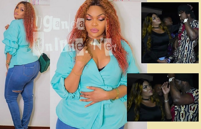 Wema Sepetu showing off Diamond Platnumz much cherished muscle