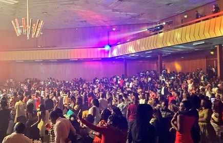 The crowd at Irene Ntale's Unchained concert