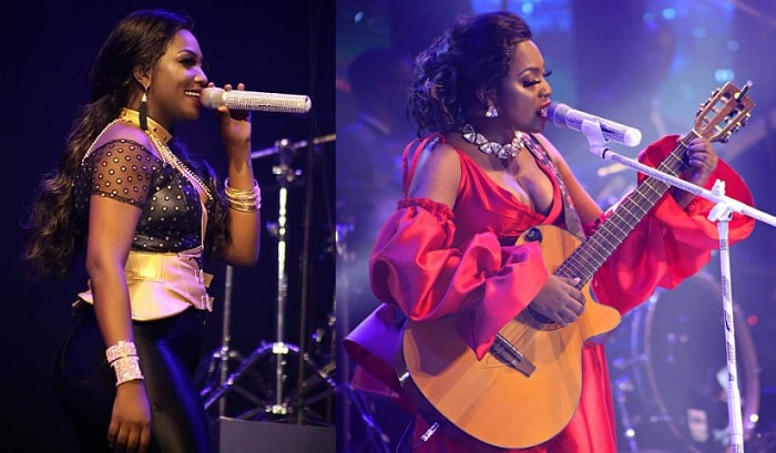 Irene Ntale performing during her Irene Ntale Unchained concert