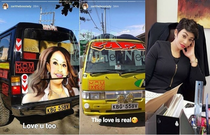 Zari returns the love to Kenyan Matatu driver