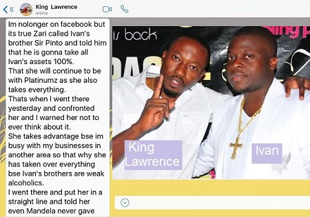 King Lawrence chat on Ivan's property