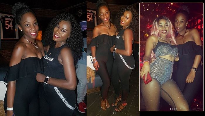 KFM's Malaika Nyanzi strikes apose with Juliana and Sheebah Karungi