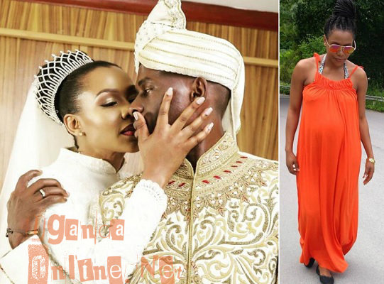 The couple on their wedding day and Jalia doing the pregnancy walk of 150 minutes�per week.