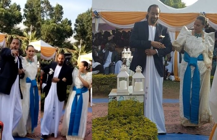 Navio and Mathilda and their ontroduction ceremony