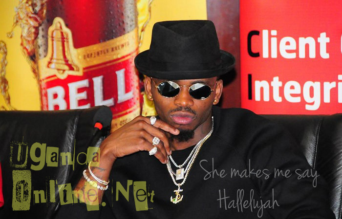 Diamond Platnumz at a press conference in Kampala