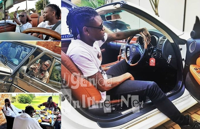 Weasel and Pallaso enjoying Bryan White's V8 and Lexus rides