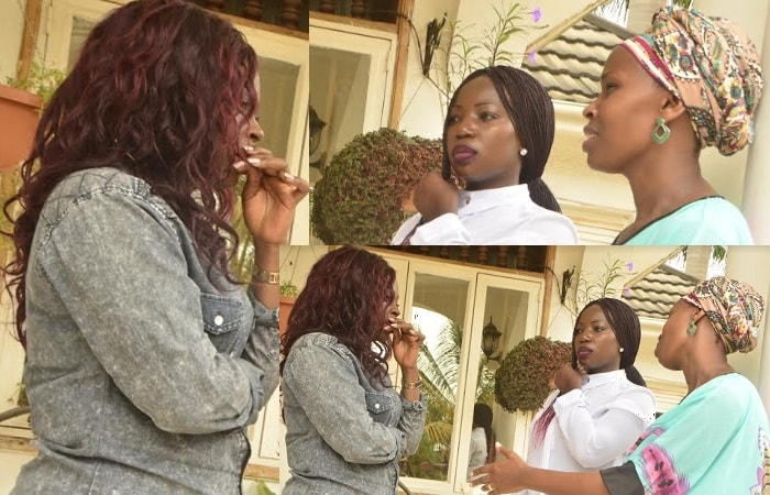 Rema Namakula listens to Barbie as she explains her ordeal