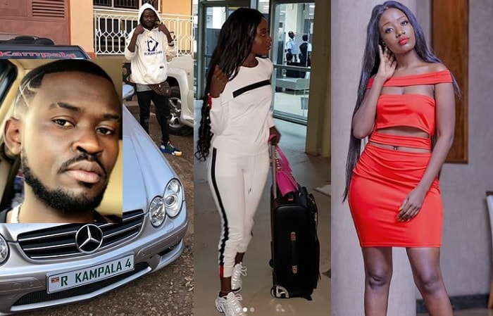 Inset is Robert Kampala and Lydia Jazmine enroute to UK