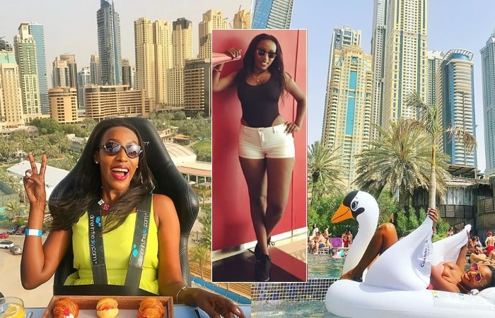 Tina Teise having fun in Dubai