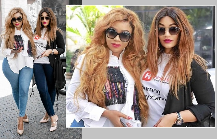 Vera Sidika and Zari Hassan in Nairobi