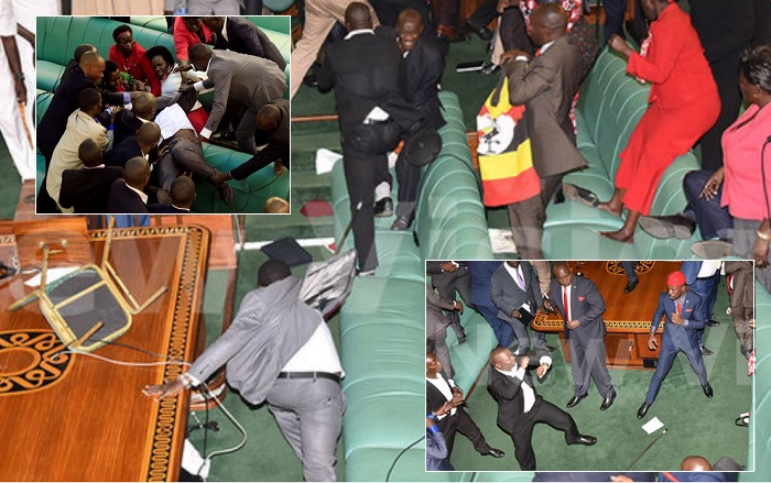 Scenes at parliament when security forces stormed the house