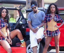 Vanessa Mdee and Navio shooting video