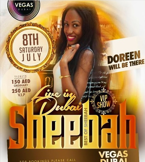 Sheebah Karungi to perfom in Dubai