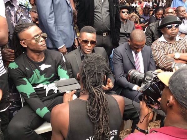 Weasel, Chameleone and Ragga Dee in Kayunga for Ivan's burial