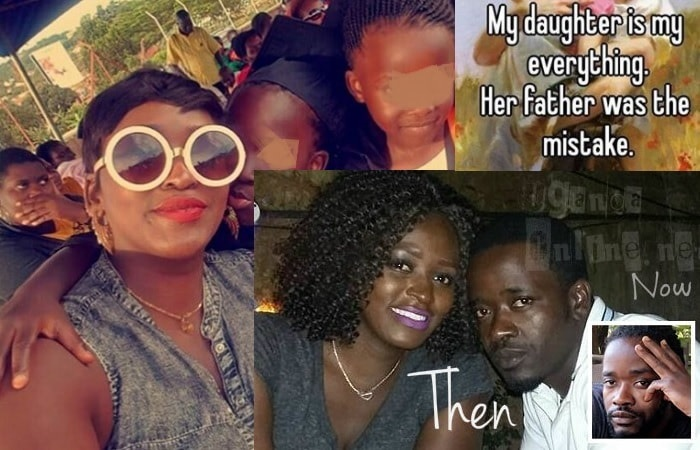 Winnie Nwagi with her daughter Destiny and inset is Josh