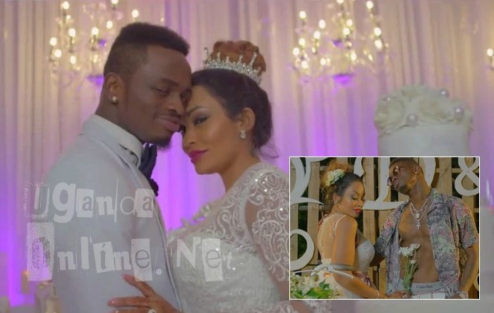 Diamond Platnumz and Zari in the Iyena video