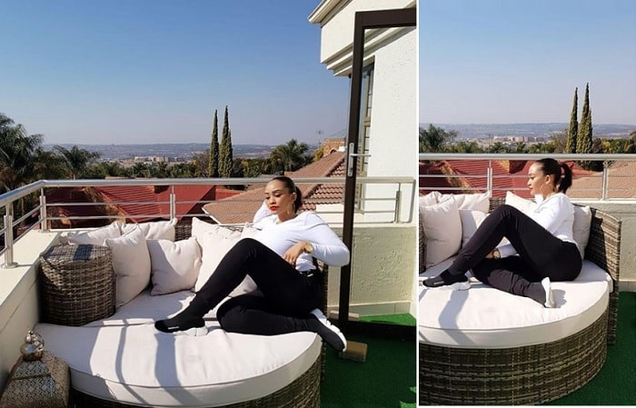Zari chilling at one of her cribs in South Africa