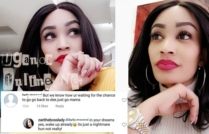 Zari responds to one who thought she was about to reunite with Dee