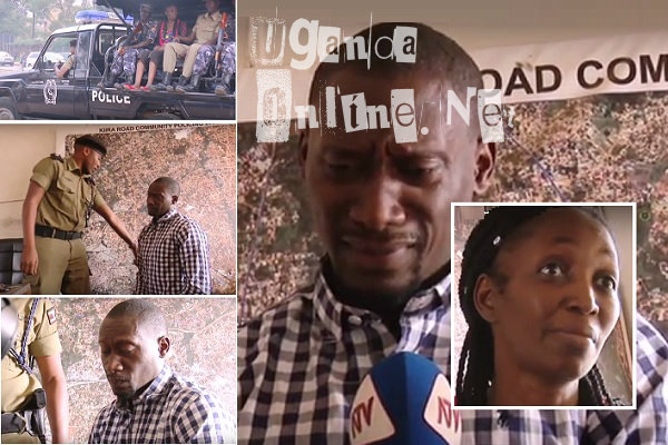 Andrew Okoth in tears as he tried to explain himself