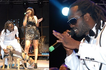 Bebe Cool and Zuena performing at the Minzani Launch
